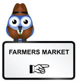Farmers market sign Royalty Free Stock Photo