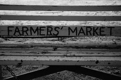 Farmers market sign Royalty Free Stock Image