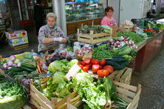 Farmers Market in Split Croatia Stock Photography