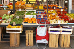 Farmers market stall Royalty Free Stock Image