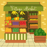 Farmers market. Street food. Farmers market. Sale fruits and vegetables from the farm. Natural product. Village market. Food for a healthy lifestyle. Local shop Stock Image