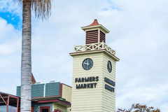 Farmers Market tower in downtown L.A. LOS ANGELES, CALIFORNIA - OCTOBER 28, 2016: Farmers Market tower in downtown L.A stock image