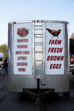 Farmers market trailer Royalty Free Stock Images