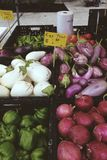 Farmers Market Vegetables Stock Photography
