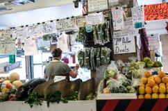 Farmers Market vegtable stand Stock Photos