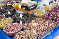 Farmers market in the village Tymbaki in south-central of Crete Royalty Free Stock Photos