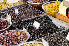 Farmers market in the village Tymbaki in south-central of Crete Royalty Free Stock Photography