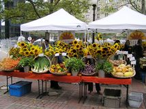 USA, Boston, Massachusetts. Farmers Market in Copley Square. royalty free stock photo