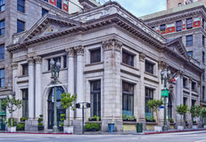 Farmers & Merchants Bank in Los Angeles. Los Angeles, USA - July 31, 2011: Farmers & Merchants Bank located in downtown Los Angeles on July 31, 2011. The bank Stock Photography