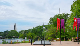 Farmers Plaza Naperville Riverwalk Royalty Free Stock Image