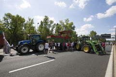 Farmers protest Stock Images