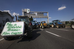 Farmers protest Royalty Free Stock Photography