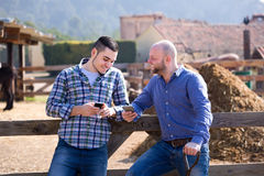 Farmers resting after labour Royalty Free Stock Photography