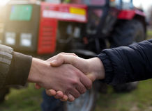 Farmers shaking hands Stock Images