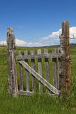 Farmers Western Pasture Gate Stock Photography