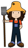 FarmGirl -Vector Royalty Free Stock Images