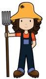 farmgirl wektora Obrazy Royalty Free
