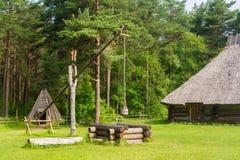 farmhouse παλαιό καλά Στοκ φωτογραφία με δικαίωμα ελεύθερης χρήσης