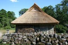 Farmhouse. Old estonian farmhouse royalty free stock image