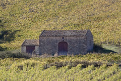Farmhouse. In a vineyard, Sicily stock image