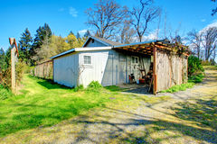 Farmhouse backyard shed Royalty Free Stock Images