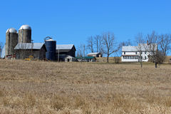 Farmhouse and barn Stock Photo