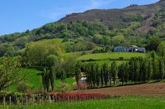 Farmhouse in basque mountains Royalty Free Stock Image