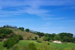 Farmhouse in basque mountains Stock Photo