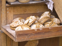 Farmhouse bread Stock Photos