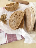 Farmhouse bread with coriander Royalty Free Stock Photography