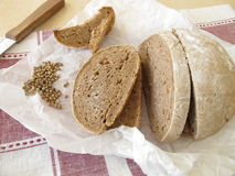 Farmhouse bread with coriander Royalty Free Stock Image