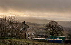 Farmhouse british countryside. A farm house in the countryside rural England Stock Photos