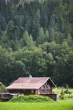 Farmhouse Chalet in the Swiss Alps Stock Photography