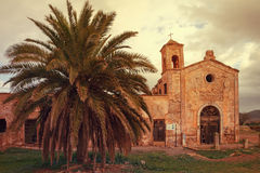 Farmhouse Cortijo Del Fraile, Cabo De Gata, Almeria, Spanien Lizenzfreies Stockbild