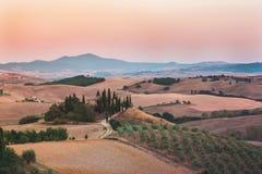 Farmhouse. Famous farmhouse in Tuscany, Italy Royalty Free Stock Image