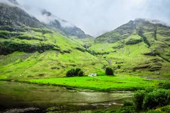 Farmhouse in Glen Coe Royalty Free Stock Images