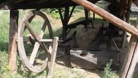 Farmhouse - grinding mill stock footage