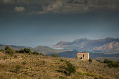 Farmhouse in the hills of Balagne in Corsica Royalty Free Stock Photos