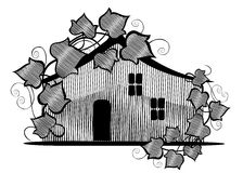 Farmhouse Illustration Stock Images