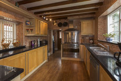 Farmhouse Kitchen. A farmhouse kitchen in a house in Yorkshire in northeast England Royalty Free Stock Image