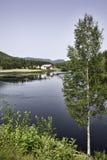 Farmhouse at the Lake Stock Photos