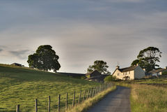 Farmhouse near Ings Royalty Free Stock Photos