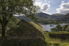 Farmhouse over Ullswater Royalty Free Stock Image