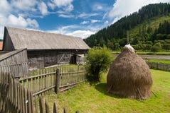 Farmhouse in Romania. Traditional wooden farmhouse in Transylvania, Romania Royalty Free Stock Photography