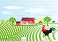 Farmhouse with rooster Royalty Free Stock Photography