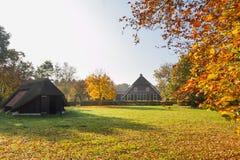 Farmhouse and sheep barn Royalty Free Stock Photo