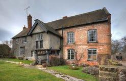 Farmhouse, Shropshire. Traditional Shropshire farmhouse with original Tudor porch, England Stock Image