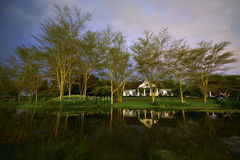 A farmhouse in South Africa. A Cape-Dutch style farmhouse in Kwa-Zulu Natal South Africa Stock Photography