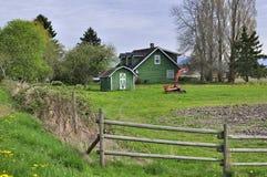 Farmhouse in springtime Stock Photo