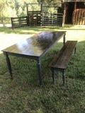 Farmhouse table royalty free stock photo